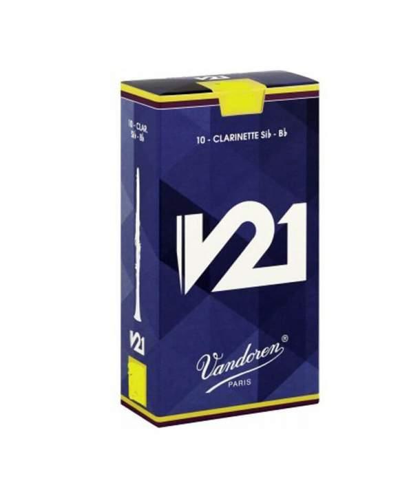 Caja 10 Cañas Clarinete Sib/LA Vandoren V-21 2 1/2