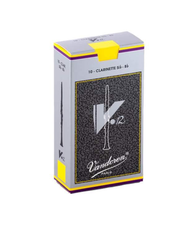 Caja 10 Cañas Clarinete Sib/LA Vandoren V-12 2 1/2