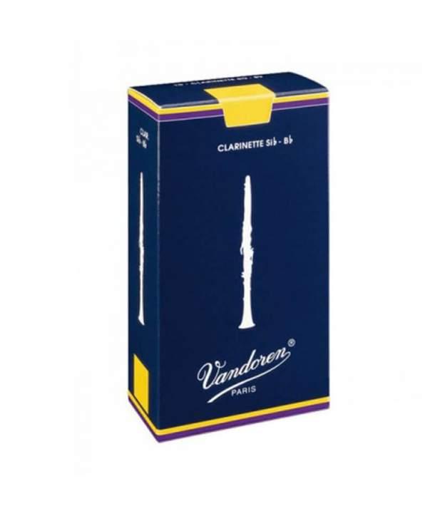 Caja 10 Cañas Clarinete Sib/LA Vandoren Tradicional 3 1/2 Azul