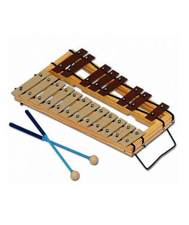 Carrillón Soprano Do-Sol 12+8 Láminas Cromático Samba 322SM