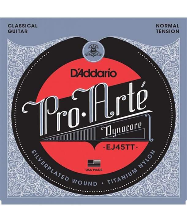 Juego Cuerdas Guitarra Clásica D'addario EJ45TT Tension Normal
