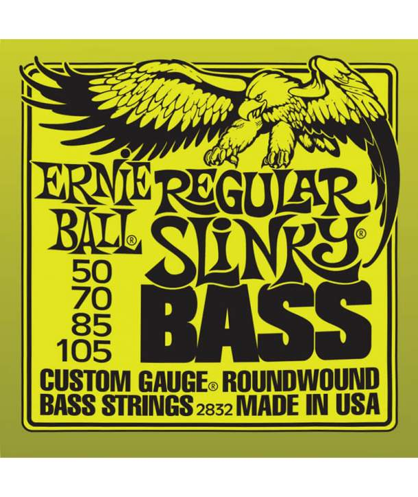 Juego Cuerdas Bajo Ernie Ball 2832 Regular Slinky