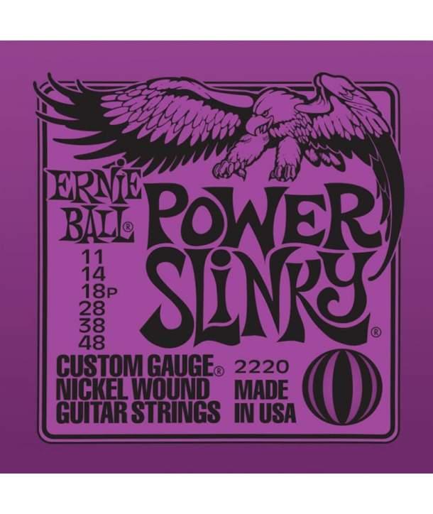 Juego Cuerdas Guitarra Eléctrica Ernie Ball 2220 Power Slinky