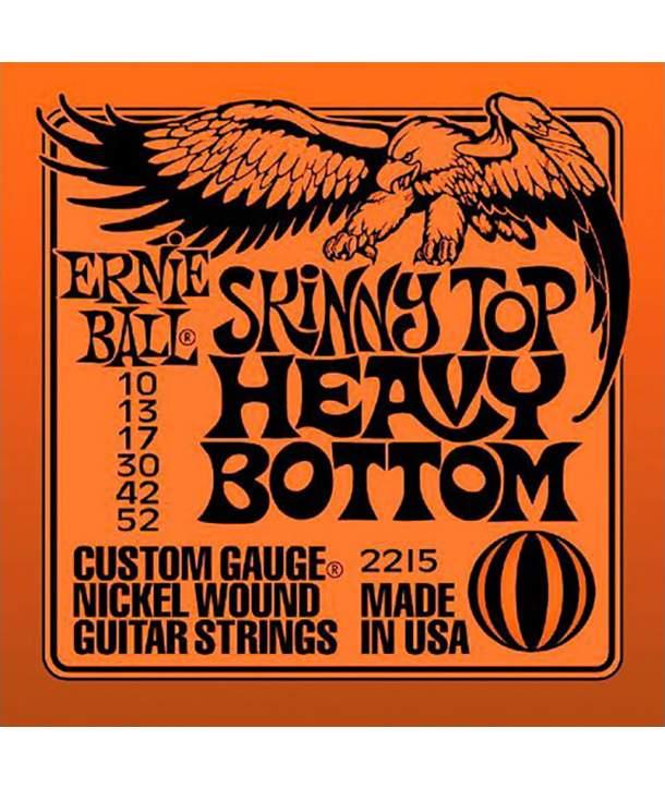 Juego Cuerdas Guitarra Eléctrica Ernie Ball 2215 Skinny Top Heavy Bottom