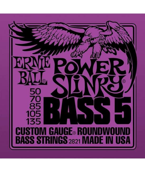 Juego Cuerdas Bajo 5 Cuerdas Ernie Ball 2811 Power Slinky