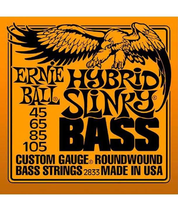 Juego Cuerdas Bajo Ernie Ball 2833 Hybrid Slinky