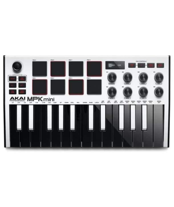 TECLADO MIDI 25 TECLAS AKAI MPK MINI MK3 WHITE