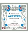 Set Cuerdas Knobloch Actives Sterling Silver CX Medium-High